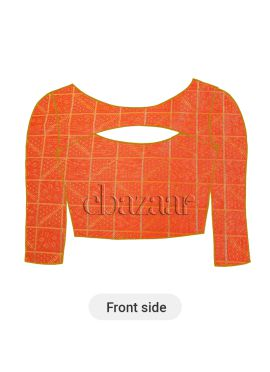 Orange Mogra Silk Blouse