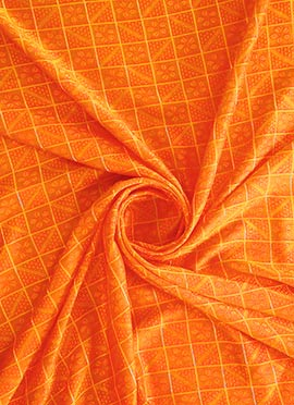 Orange Mogra Silk Fabric