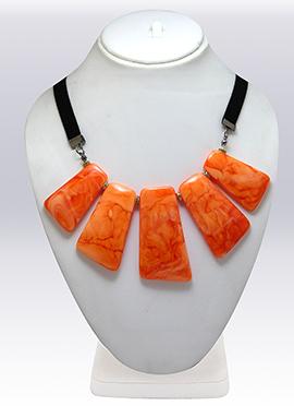 Orange N Black Necklace
