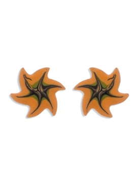 Orange N Brown Colored Studs