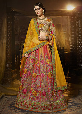 Embroidered Ae Dil Hai Mushkil Umbrella Lehenga
