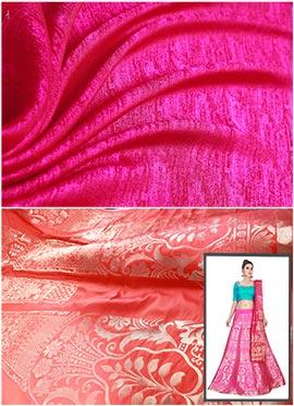 Orange N Pink Umbrella Lehenga Choli