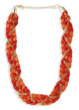 Orange N Rust Chain Necklace