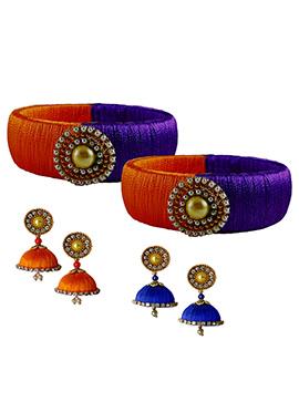 Orange N Violet Bangles Combo