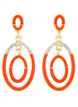 Orange N White Danglers