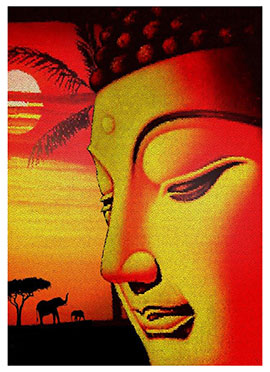 Orange N Yellow Buddha Canvas