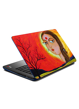 Orange N Yellow Female Laptop Skin