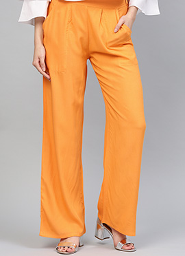 Orange Regular Fit Palazzo Pant