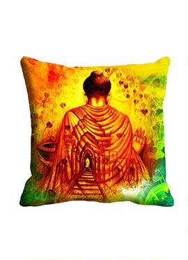 Orange Saint Cushion Cover