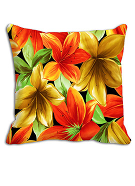 Ornage N Yellow Maple Leaves Cushion Cover