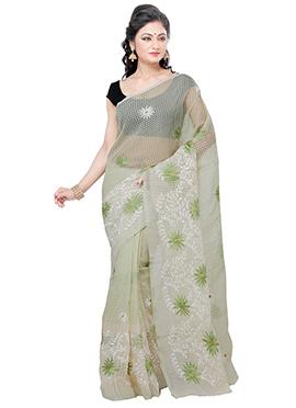 Pale Green Super Net Saree