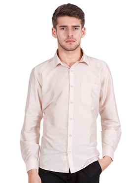 Pale Pink Art Silk Shirt