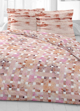 Pale Pink Cotton King Size Bed Sheet