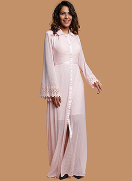221a53013f4 Pale Pink Embroidered Dress