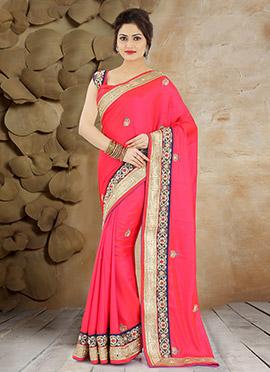 Paradise Pink Pure Handloom Silk Saree