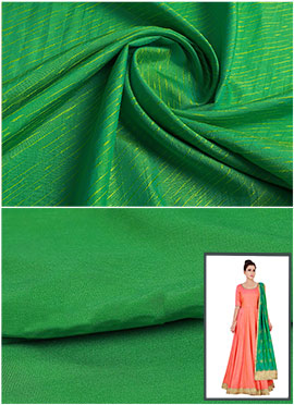 Parrot Green Art Silk Anarkali Suit