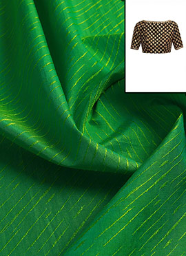 Parrot Green Art Silk Blouse