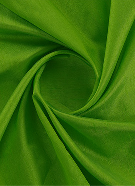 Parrot Green Dupion Silk Fabric