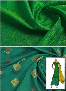 Parrot Green N Slub Green Palazzo Suit