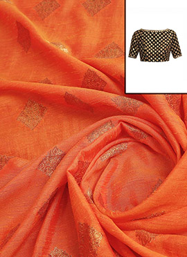 Peach Art Silk Blouse