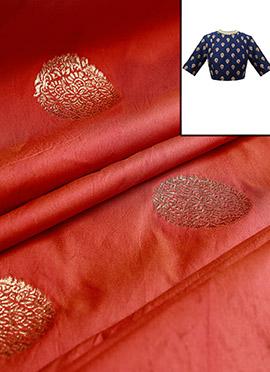 Burnt Orange Art Silk Blouse