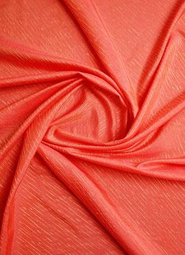 Peach Art Silk Fabric