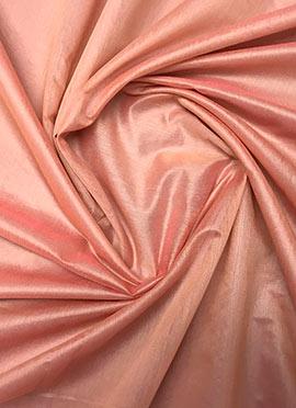 Peach Chanderi Cotton Fabric