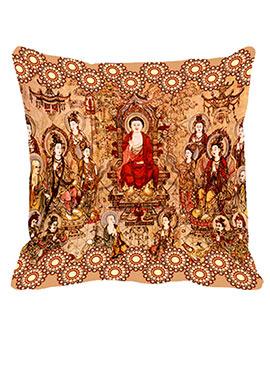 Peach China Town Cushion Cover