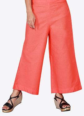 Peach Cotton Culottes