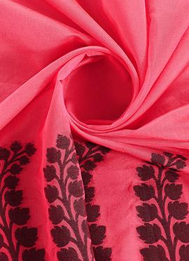 Peach Cotton Woven Fabric
