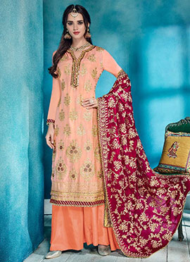 cea65de879 Buy Peach Salwar Kameez | Online Indian Wedding Peach Salwar Kameez ...