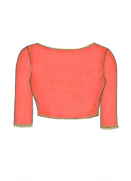 Peach Georgette Blouse