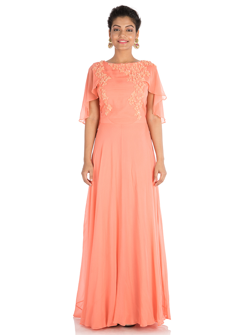 225c625038 Buy Peach Georgette Gown