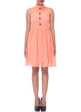 Peach Georgette Dress