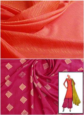 Peach N Pink Long Kurta Palazzo Suit