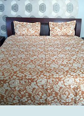 Peach Nylon Bed Spread