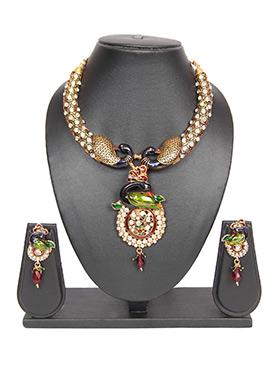 Peacock Multicolored Traditsiya Necklace Set