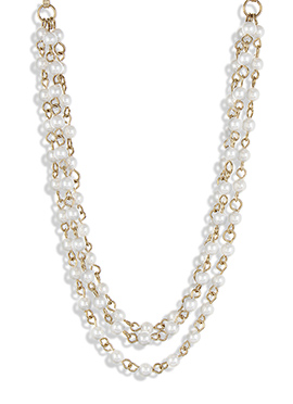 Pearl Ornate Multilayered Hair Chain