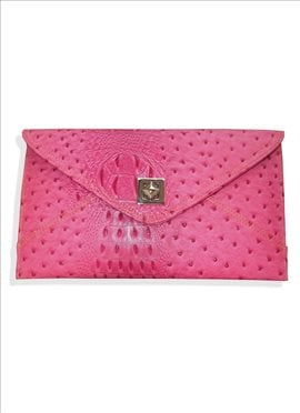 Peppy Pink Fancy Fabric Clutch