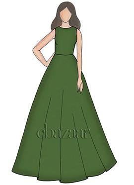 Peridot Taffeta Ball Gown