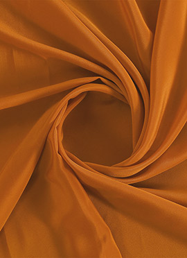 Persimmon Orange Crepe Fabric