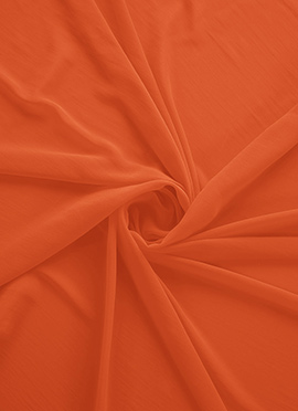 Persimmon Orange Georgette Fabric