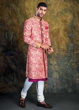 Pink Achkan Sherwani
