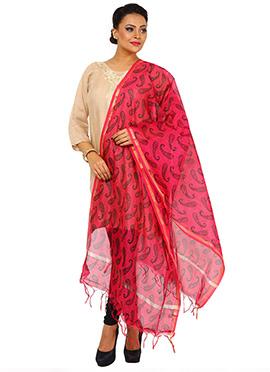 Pink Art Benarasi Silk Dupatta