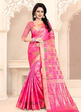 Pink Art Benarasi Silk Saree
