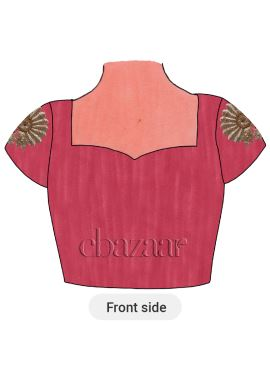 Pink Art Dupion Silk Embroidered Blouse