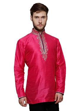 Pink Art Dupion Silk Kurta