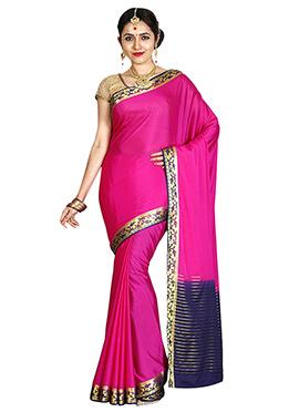 Pink Art Mysore Silk Saree