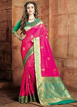 Pink Art Raw Silk Saree
