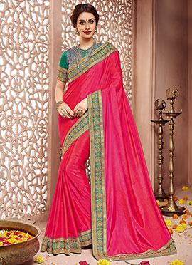 Pink Art Sanchi Silk Border Saree